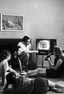 Family Watching TV, The Early Years